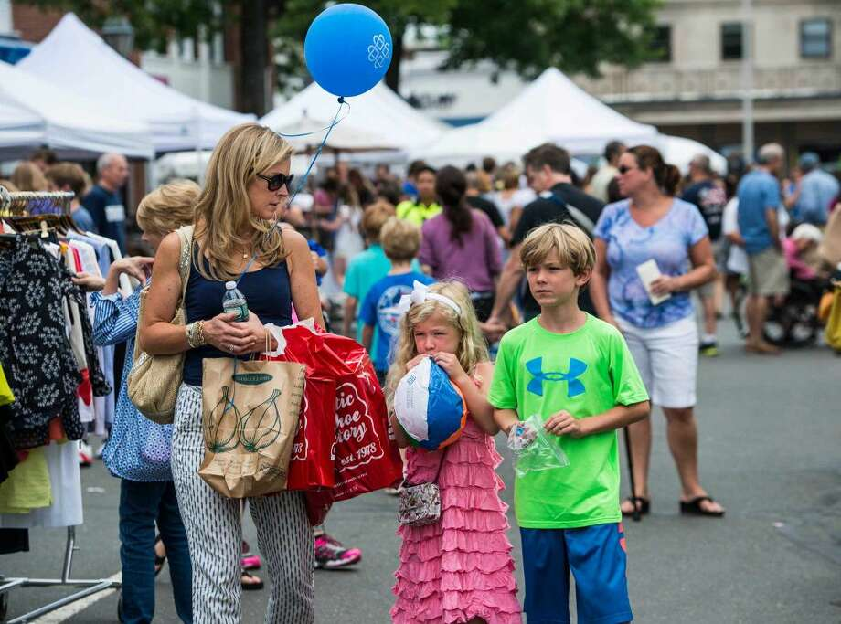 Annual New Canaan Village Fair & Sidewalk Sale, New Canaan, CT Saturday, July, 19th, 2014.