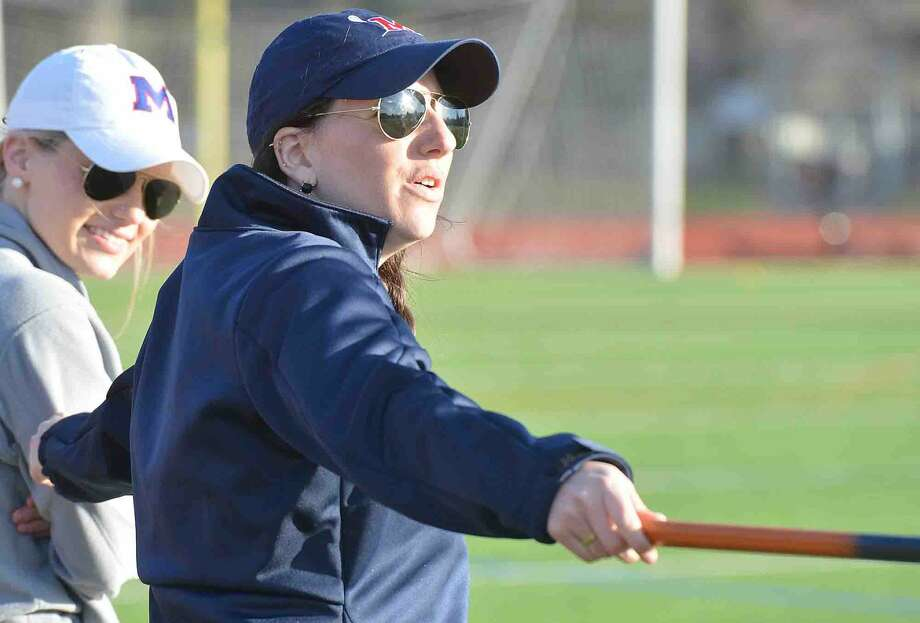 Brein McMahon girls lacrosse coach Mary Peters