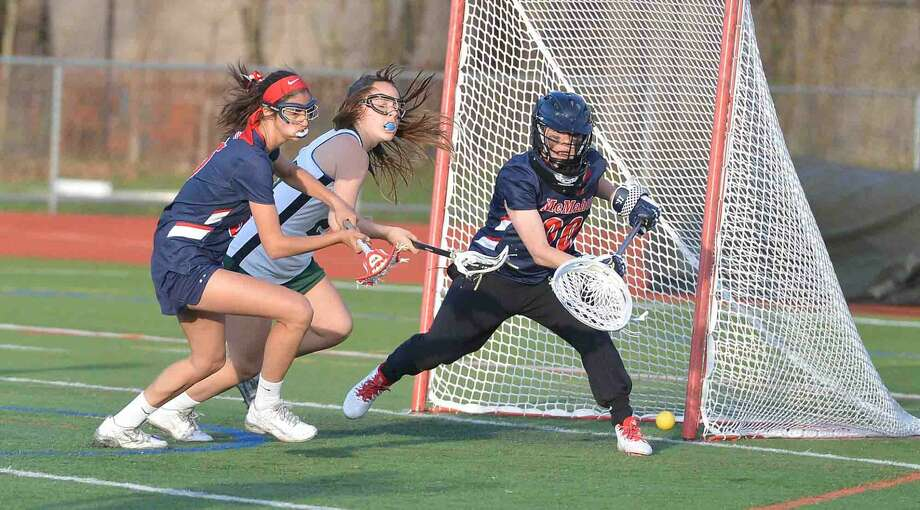 Norwalk Hosts Brien McMahon in girls lacrosse for the Kuchta Cup at Norwalk High School on April 19 2016