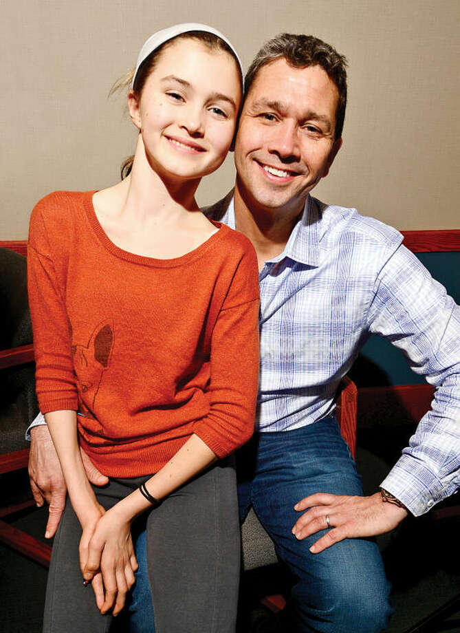 Wilton resident Jeff Snyder and his daughter Kennedy, who is battling cancer. Snyder was named to the national cancer foundation's Alex's Lemonade Stand board of directors.