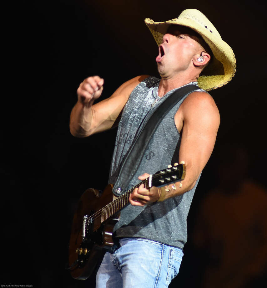 Hour photo/John Nash - Country star Kenny Chesney performed at the Mohegan Sun Arena on Friday and Saturday, March 28, 2015.
