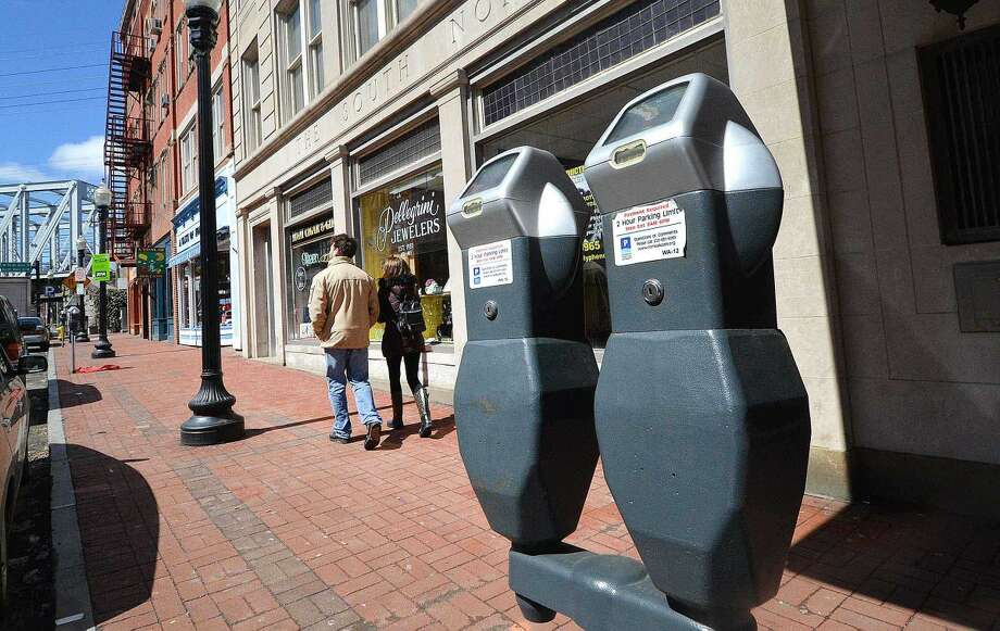 Hour Photo/Alex von Kleydorff Parking Meters in SoNo on Monday