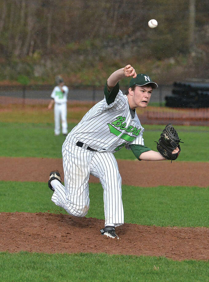 Norwalk's Jack Potochney pitches against Bridgeport Central on Wednesday.