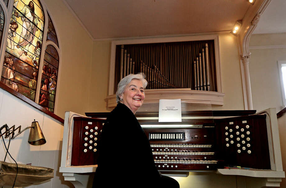 Hour photo / Erik Trautmann Organist Eileen Hunt and The Congregational Church at Green's Farms will be celebrating the 50th anniversary of the organ.
