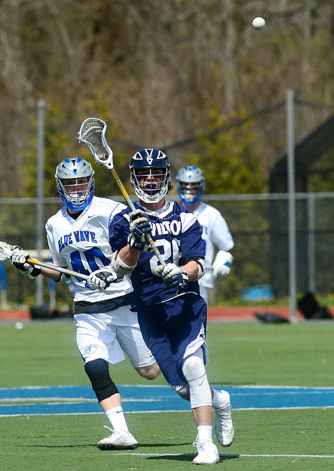 Wilton High School's Boys Lacrosse Game against Darien on Saturday, April 22, 2016, at Darien High School in Darien, Conn.