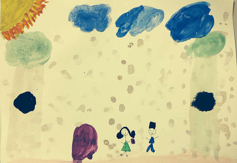 Weather Drawing for Saturday, April 12 Kayleh Burroughs, 10 years old, Columbus Magnet School.