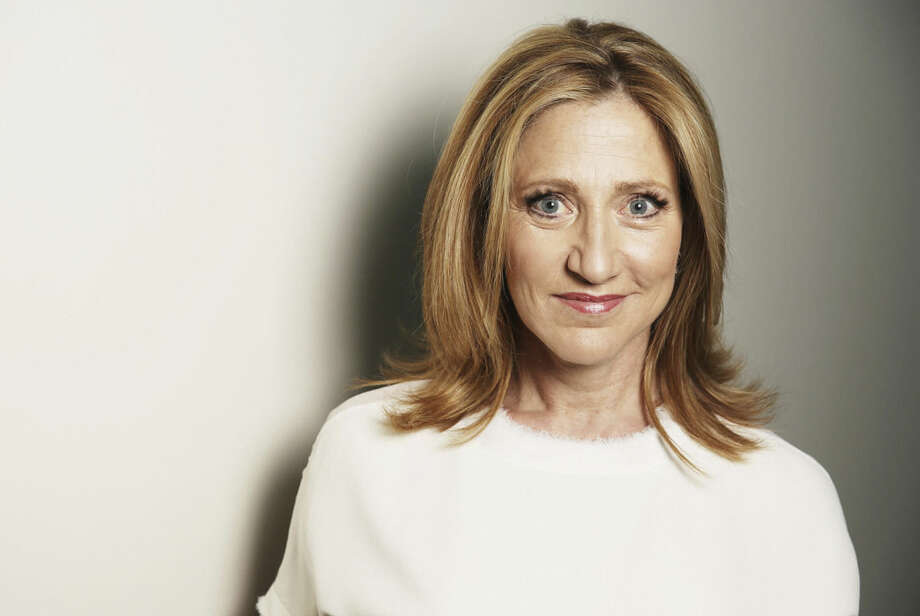 """In this April 21, 2015 photo, actress Edie Falco poses for a portrait on Tuesday, April 21, 2015 in Los Angeles. Falco stars in """"Nurse Jackie,"""" as Jackie Peyton, an ER nurse addicted to prescription drugs, on the Showtime series (Sunday, 9 p.m. EDT). The final season finds Jackie attempting to piece her career and family back together after a relapse and DUI arrest. (Photo by Matt Sayles/Invision/AP)"""