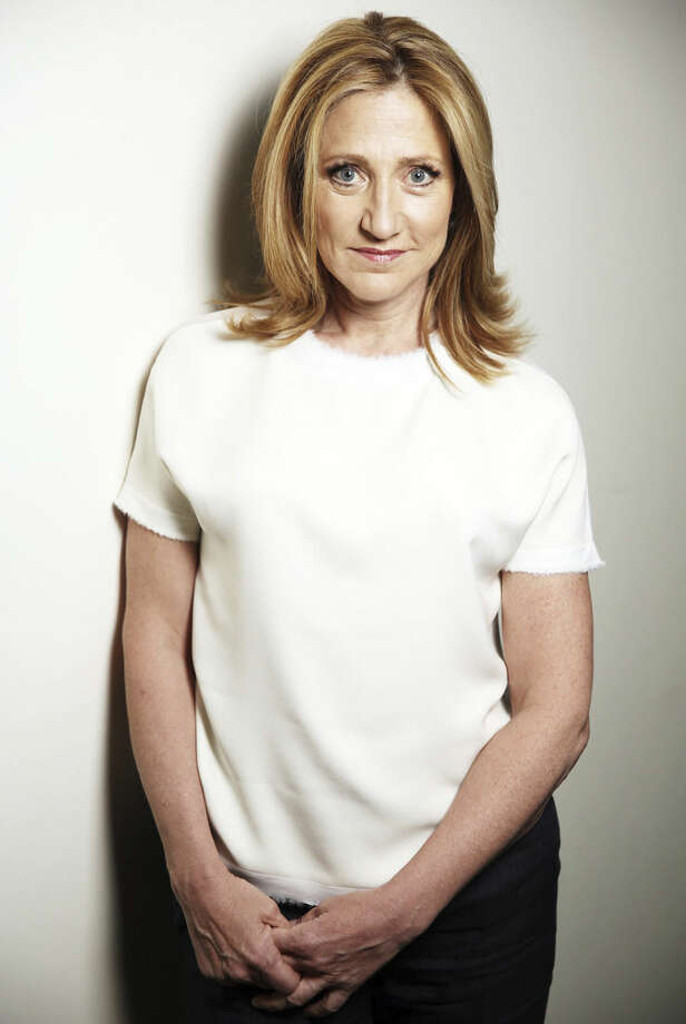 """In this April 21, 2015 photo, actress Edie Falco poses for a portrait in Los Angeles. Falco stars in """"Nurse Jackie,"""" as Jackie Peyton, an ER nurse addicted to prescription drugs, on the Showtime series (Sunday, 9 p.m. EDT). The final season finds Jackie attempting to piece her career and family back together after a relapse and DUI arrest. (Photo by Matt Sayles/Invision/AP)"""