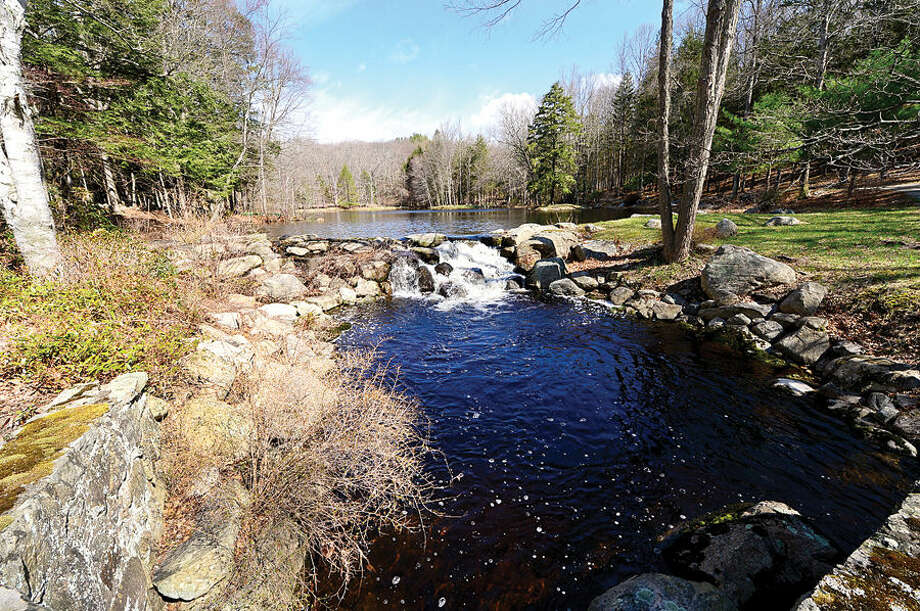 Hour photo / Erik Trautmann A 128 acre Luxury Equestrian Estate is for sale in Wilton. The estate contains two lakes, ponds, stocked trout streams, waterfalls and five miles of scenic horse trails.