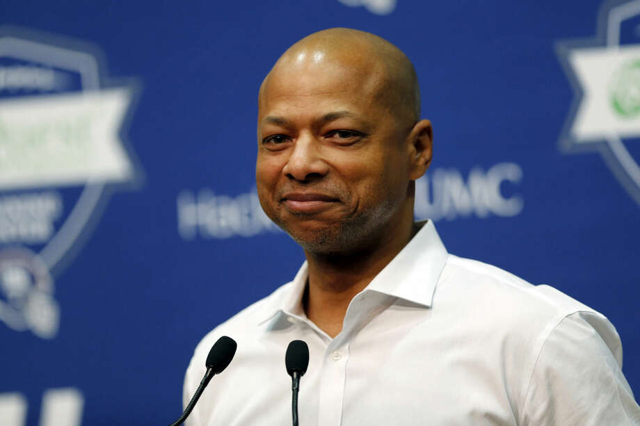 New York Giants general manager Jerry Reese speaks during an NFL football news conference, Thursday, April 23, 2015, in East Rutherford, N.J. (AP Photo/Julio Cortez)