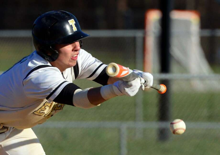 Baseball action between Trumbull and Fairfield Warde in Trumbull, Conn., on Friday Apr. 15, 2016.