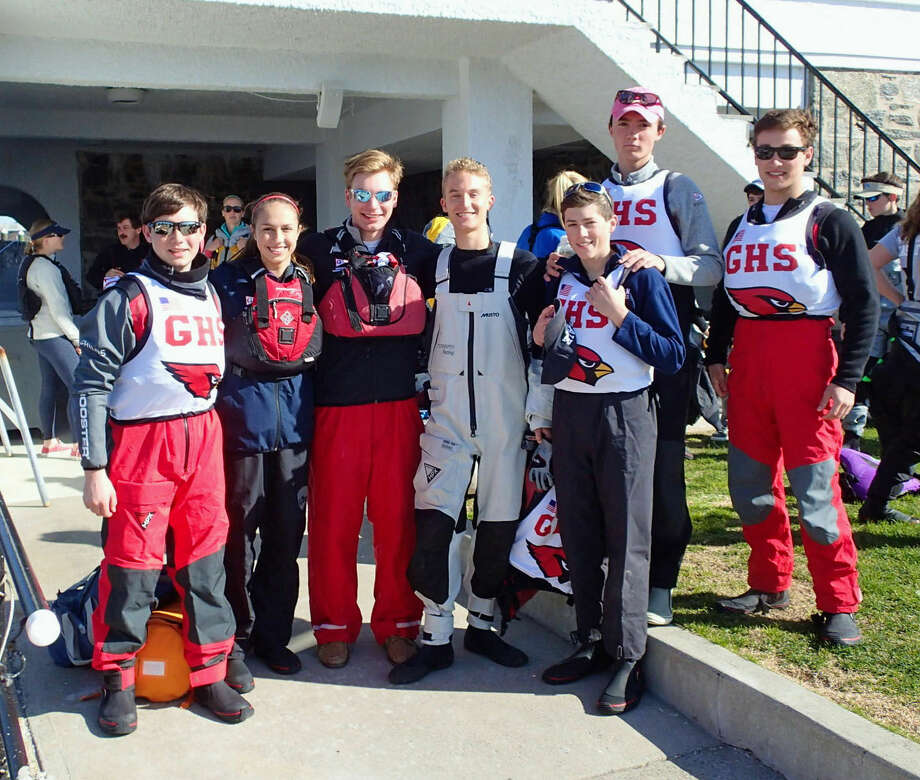 The Greenwich High sailing team was all smiles after placing third at the New England Schools Sailing Association Oday Championships Qualifier at Indian Harbor Yacht Club on Saturday in Greenwich.