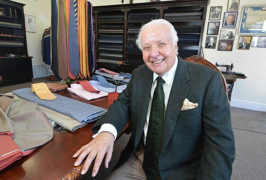 Master tailor Umberto Pitagora in his Sartoria.