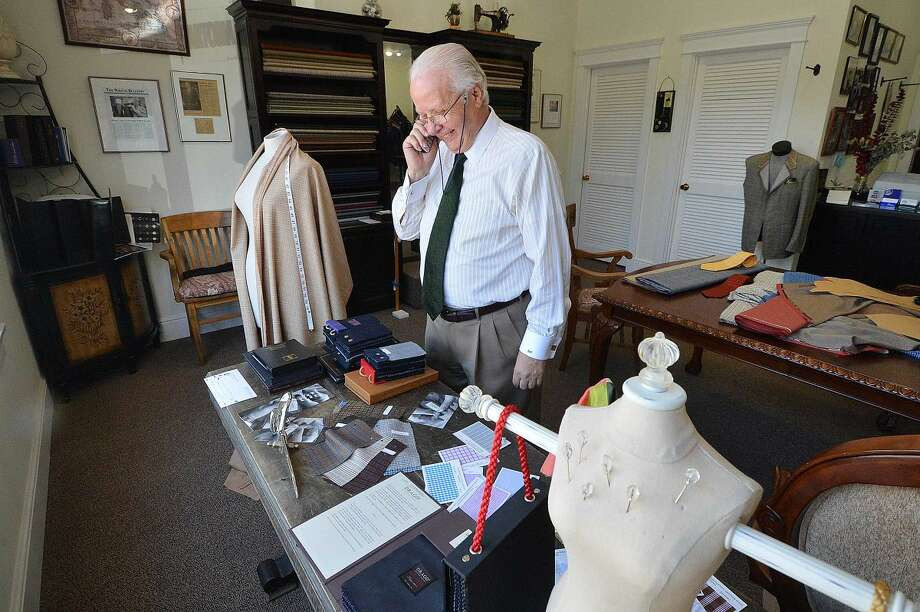 Forty-five years in Wilton keeps Umberto Pitagora on the telephone with clients and friends quite a bit.
