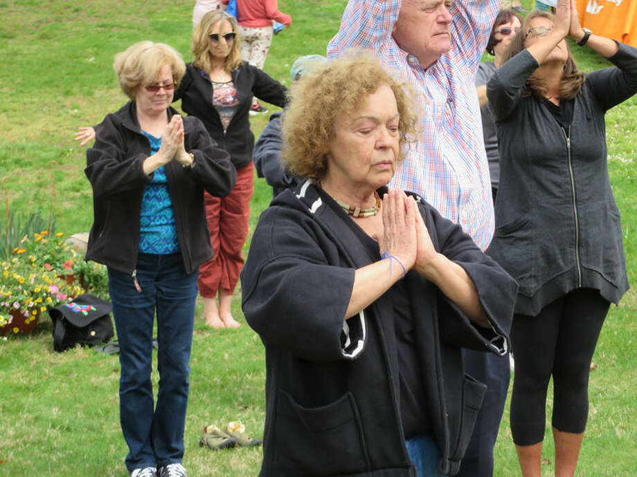 Yoga with Norwalker Audrey Cozzarin (also a St. Paul's parishioner).