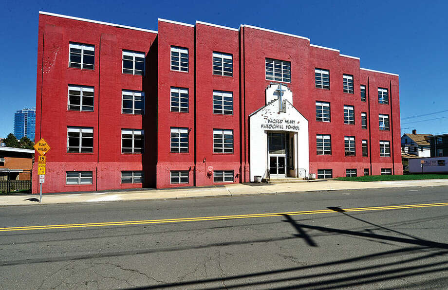 Hour photo / Erik Trautmann The old Sacred Heart Parochial School at 1 Schulyer Avenue, Stamford. The building will be the location of the Stamford Charter School of Excellence that will open Aug. 2015.