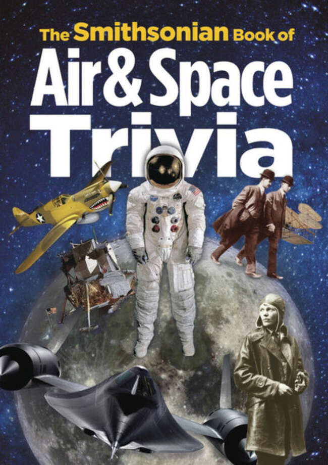 "This book cover image released by Smithsonian Books shows ""The Smithsonian Book of Air & Space Trivia"", edited by Amy Pastan. (AP Photo/Smithsonian Books)"