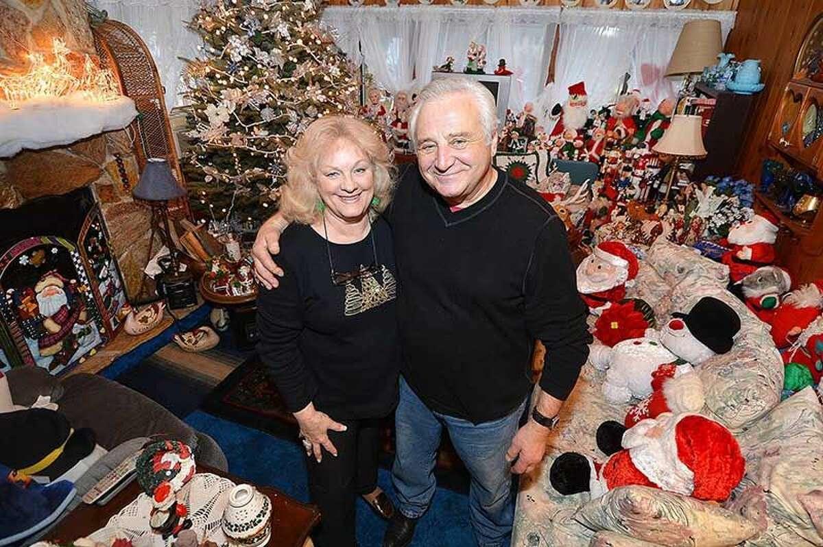 Hour Photo/Alex von Kleydorff . Joan and Rick Setti in their Midwood Rd home