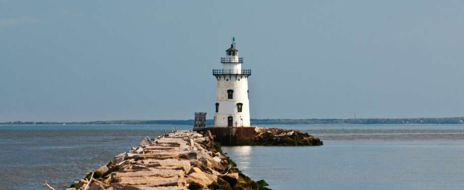 Outer Saybrook Breakwater Lighthouse featured on Connecticut license plates www.toptenrealestatedeals.com