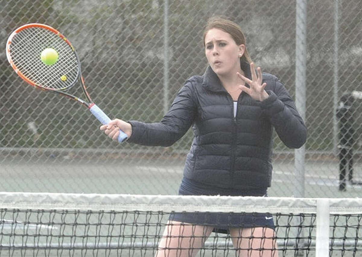 Rebecca Link, Brien McMahon girls Tennis. Hour photo/Matthew Vinci