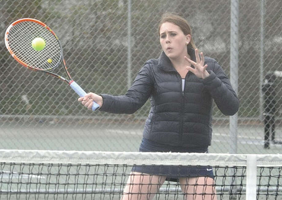 Rebecca Link, Brien McMahon girls Tennis. Hour photo/Matthew Vinci