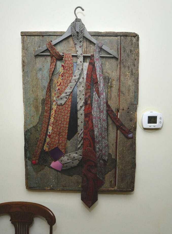 Norwalk Artist Constance Kiermaier's 'Jacks Closet' made from her husbands necktie's