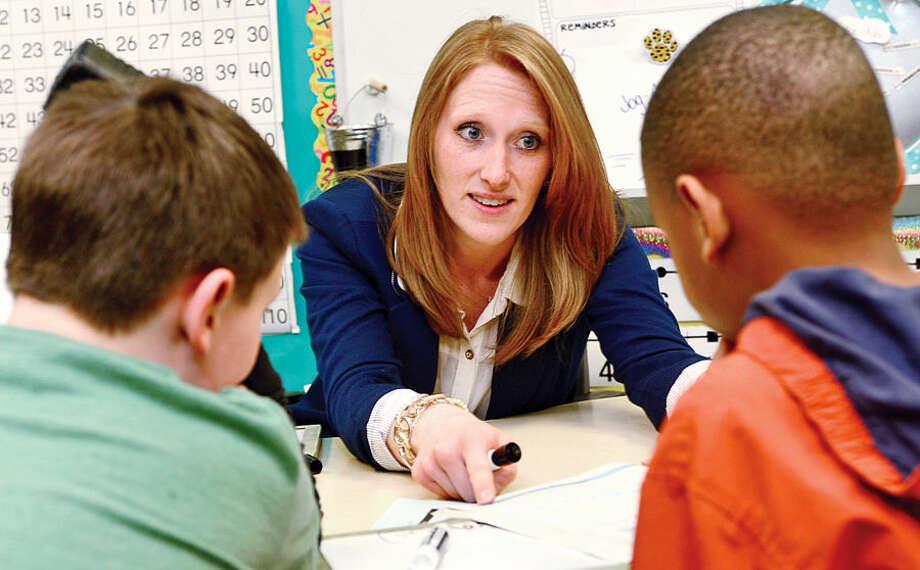 """Jessica Chaapel, a third-grade teacher at Davenport Ridge Elementary School, has been named Stamford's """"Teacher of the Year."""""""