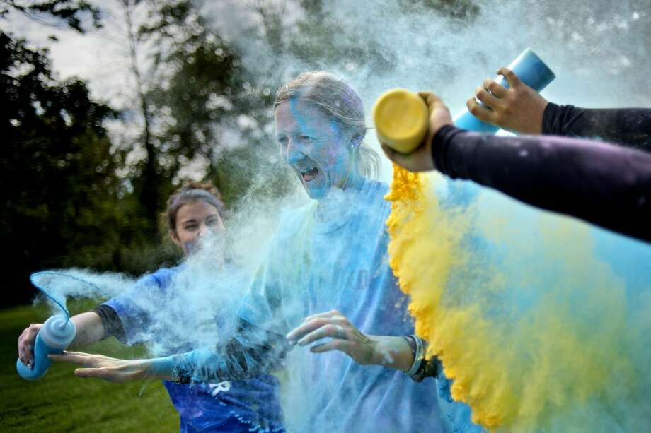 Lace up and prepare to be doused at the Joel Barlow High School Color Run onSaturday.Find out more: http://bit.ly/1VE4TgR(Photo:Nick King/Midland Daily News)