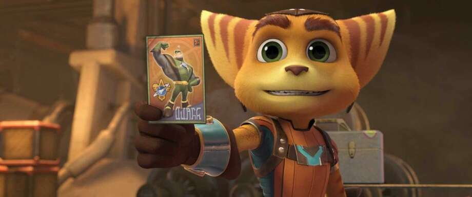 """""""Ratchet and Clank"""" opens in theatersFriday.Check out the trailer:http://bit.ly/1XXbxMP(Photo:Aperture Media Partners)"""