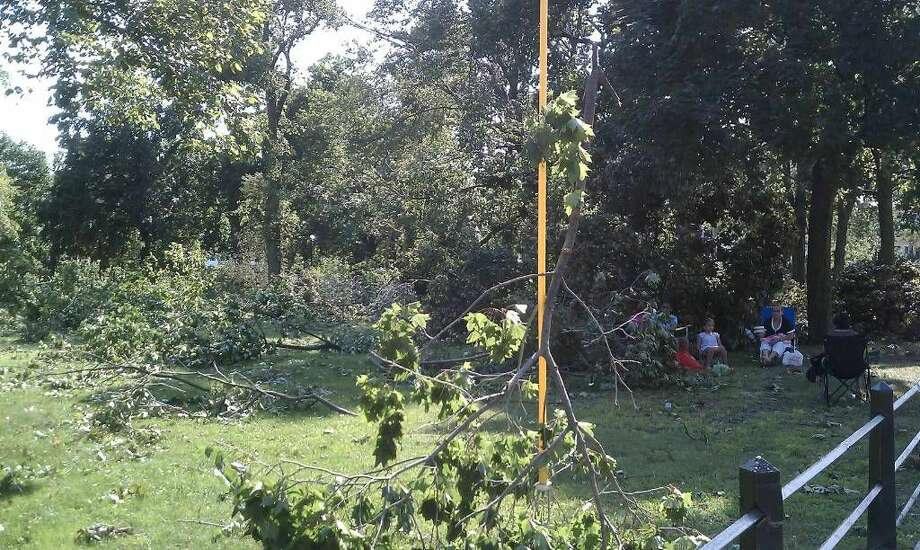 Washington received a lot of damage from the tornado that hit Bridgeport Thursday.