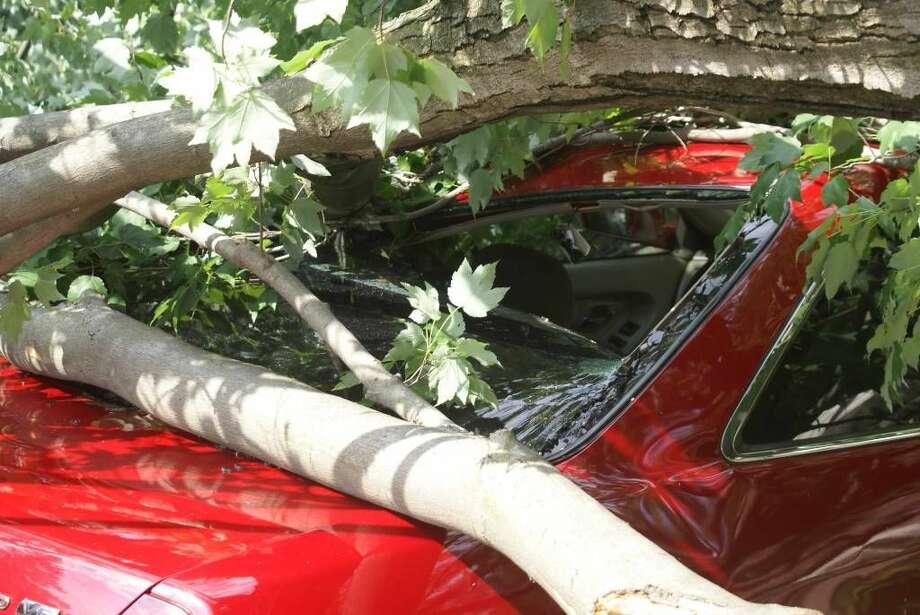 Photos of some of the damage from the tornado that struck Bridgeport Thursday. (Photo/Jennifer Hernandez)