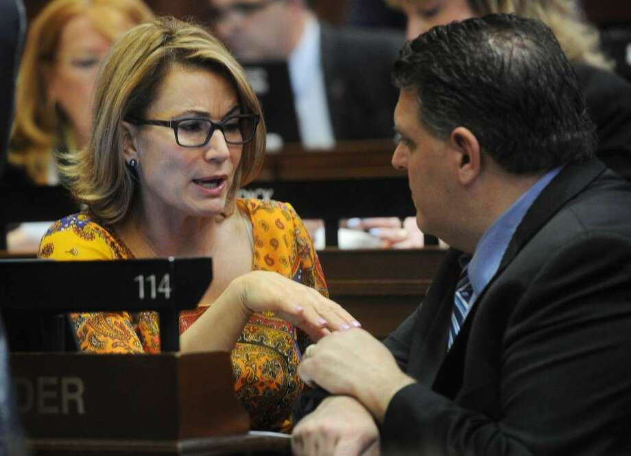 House Minority Leader Themis Klarides, R-Derby, said late Thursday that she understood why some lawmakers did not want to support the co-called affirmative-consent bill on college-campus sexual activity. (Photo: Brian Pounds)