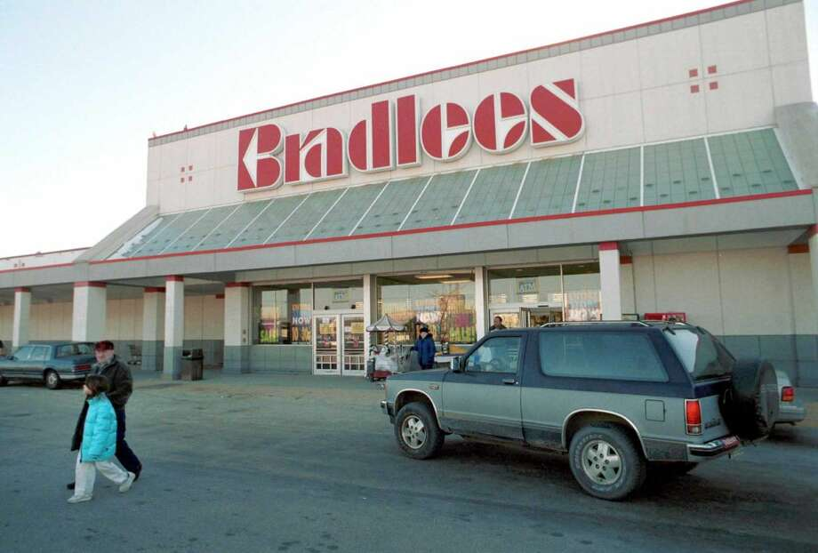 383764 01: A Bradlees shopper exits a store December 29, 2000 in Somerville, MA. About 9,800 Bradlees employees are poised to lose their jobs once the Braintree, Massachusetts-based Bradlees Inc. completes a liquidation it proposed to a U.S. Bankruptcy Court earlier this month. (Photo by Darren McCollester/Newsmakers)
