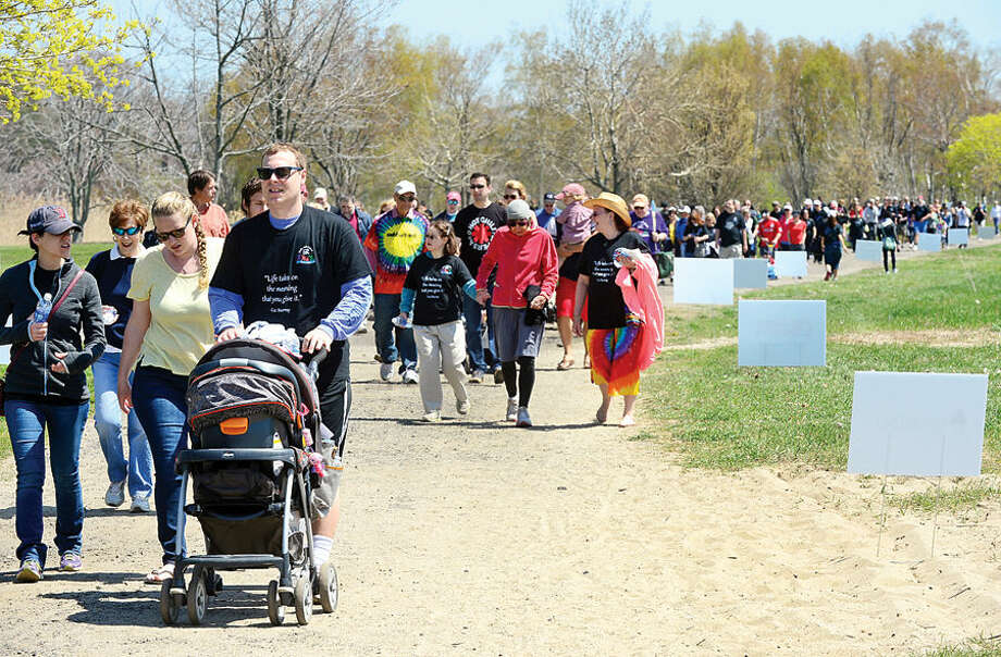 Hour photo / Erik Trautmann The 10th annual STAR Walk, Roll and Stroll Sunday at Sherwood Island State Park.