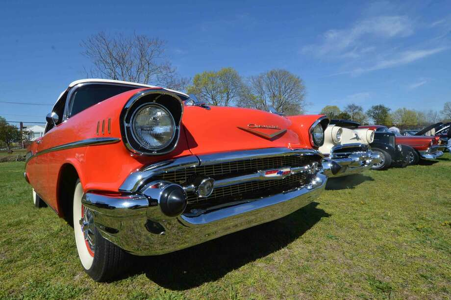 Chevrolets lined up during the 42nd Annual Gateway Antique Auto Show at Taylor Farm on Sunday in Norwalk Conn. April 24 2016