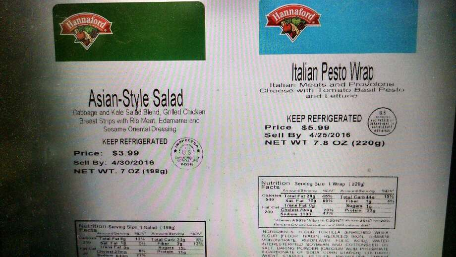 "Greencore USA, Inc., a North Kingstown, R.I. establishment, is recalling approximately 1,341 pounds of meat and poultry products that were produced without the benefit of federal inspection and outside inspection hours. The meat and poultry wrap and salad items were produced on April 7, 14, 18, 21 and 25, 2016. The following products are subject to recall: 7.7-oz. packages of ""STARBUCKS SOUTHWEST STYLE STEAK WRAP"" with use-by dates of 4/10/2016 and 4/24/2016; 8.2-oz. packages of ""STARBUCKS THAI-STYLE PEANUT CHICKEN WRAP"" with use-by dates of 4/10/2016 and 4/17/2016; 9.5-oz. packages of ""STARBUCKS ZESTY CHICKEN & BLACK BEAN SALAD BOWL"" with a use-by date of 4/28/2016; 7.8-oz. packages of ""HANNAFORD ITALIAN PESTO WRAP"" with a use-by date of 4/25/2016; 7-oz. packages of ""HANNAFORD ASIAN-STYLE SALAD"" with a use-by date of 4/30/2016; 9.9-oz. packages of ""TURKEY HILL FRESH TO GO GRILLED CHICKEN RANCH WRAP"" with a use-by date of 4/23/2016. Read more: http://bit.ly/21xJZjg"