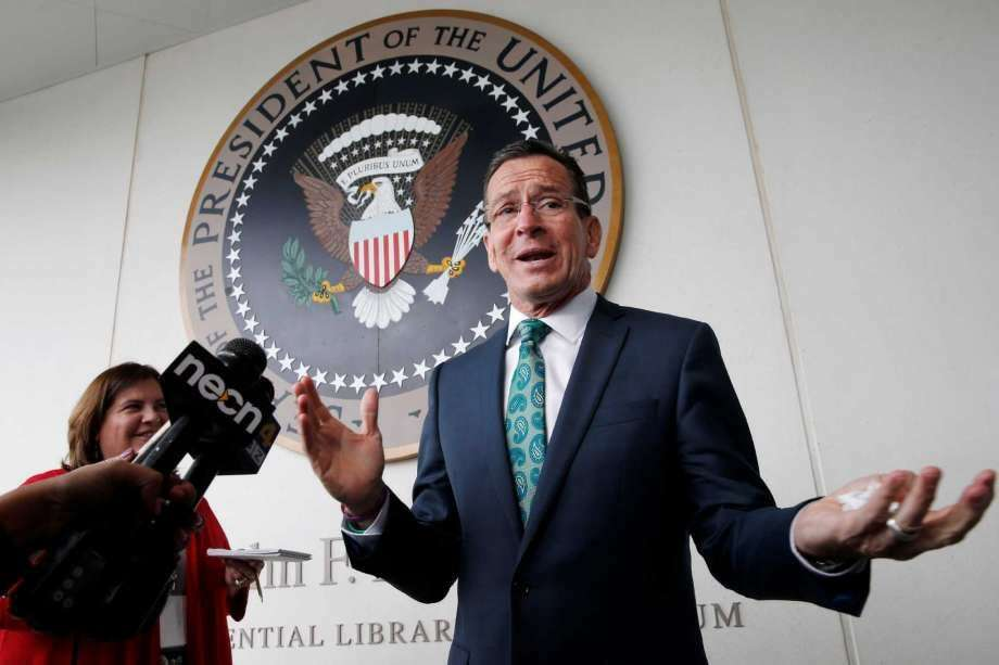 Gov. Dannel P. Malloy on Tuesday shuttled to Senate Democratic leaders in attempt to prod budget negotiations that have stalemated in recent days. (Photo: Michael Dwyer/Associated Press)