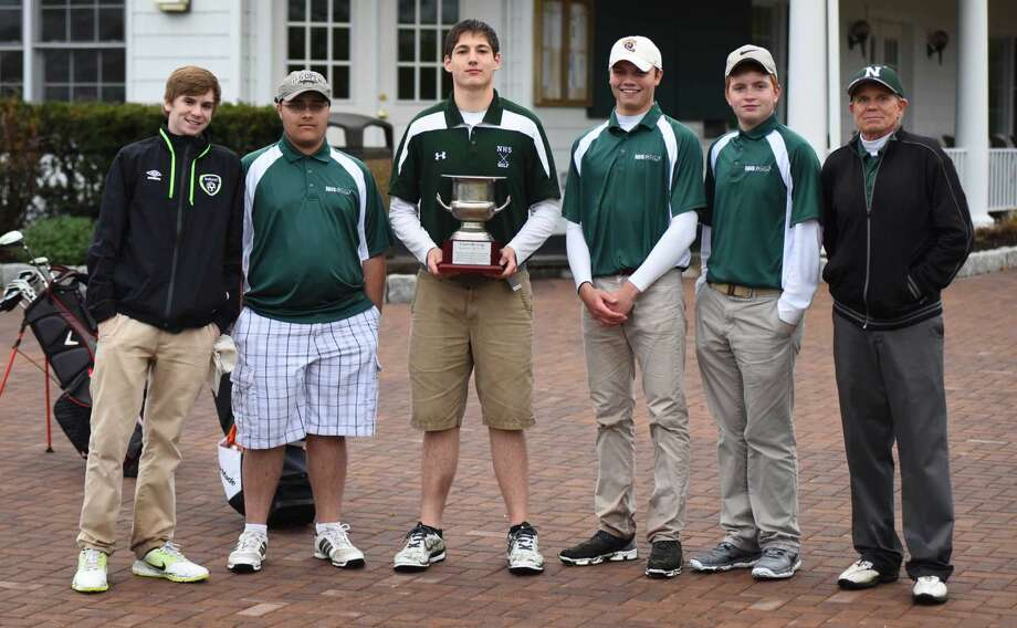 The Norwalk boys golf team won its second Courville Cup on Tuesday with a 213-235 win over Brien McMahon at the Shorehaven Golf Club in Norwalk.