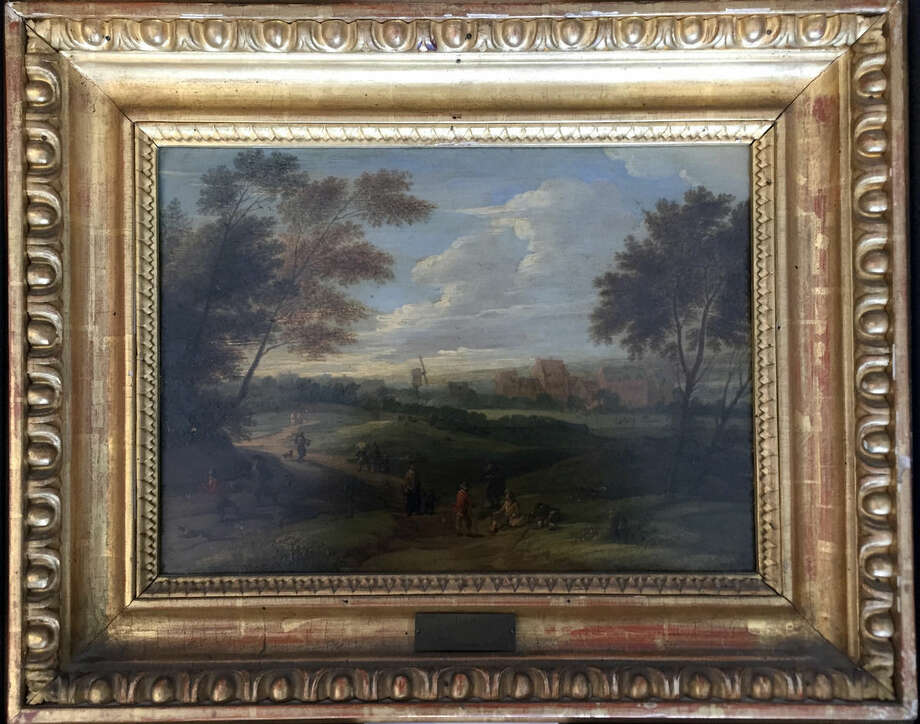"Ap photosFrom clockwise, starting above, this image provided by the Monuments Men Foundation shows a Franz de Paula Ferg oil on panel painting titled ""Landscape with Staffage."" Below, this image shows Frans Francken III's oil on copper work titled ""The Prodigal Son."" At bottom, this image shows a painting titled Madonna and Child, a 19th century oil on copper work that portrays Queen Victoria and her daughter Princess Victoria. At left, this image shows a copy of a painting titled ""King Charles I in Three Positions Kings,"" possibly attributed to the school of Anthony an Dyck, oil on copper. At far left, this image shows Christian Wilhelm Ernst Dietrich's oil on panel titled ""Rocky Landscape with Trees and Water in the Foreground."""
