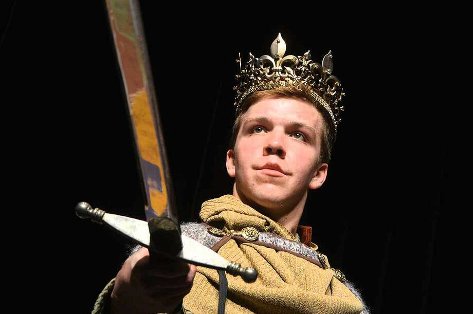 """King Arthur (Griffin King) draws strength from """"Excalibur"""""""