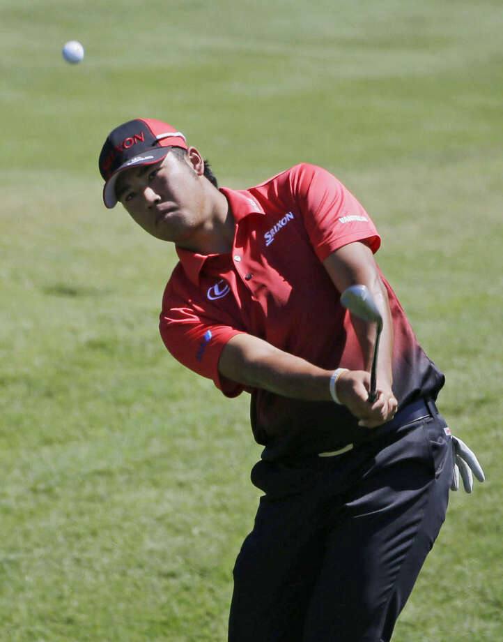 Hideki Matsuyama, of Japan, hits from the second hole during the first round of The Players Championship golf tournament Thursday, May 7, 2015, in Ponte Vedra Beach, Fla., Fla. (AP Photo/Chris O'Meara )