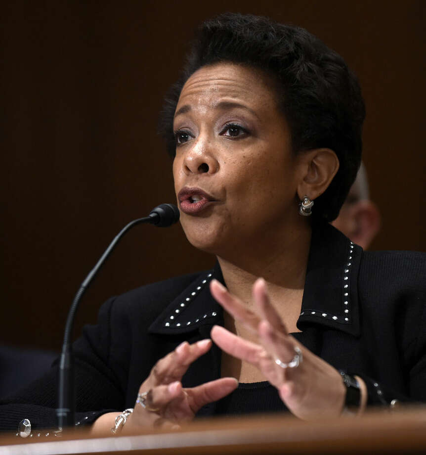 Attorney General Loretta Lynch testifies on Capitol Hill in Washington, Thursday, May 7, 2015, before the Senate subcommittee on Commerce, Justice, Science, and Related Agencies hearing to examine the proposed budget estimates for fiscal year 2016 for the Justice Department. Lynch said she'll decide soon whether the Justice Department will undertake a civil rights investigation into the Baltimore police department. (AP Photo/Susan Walsh)