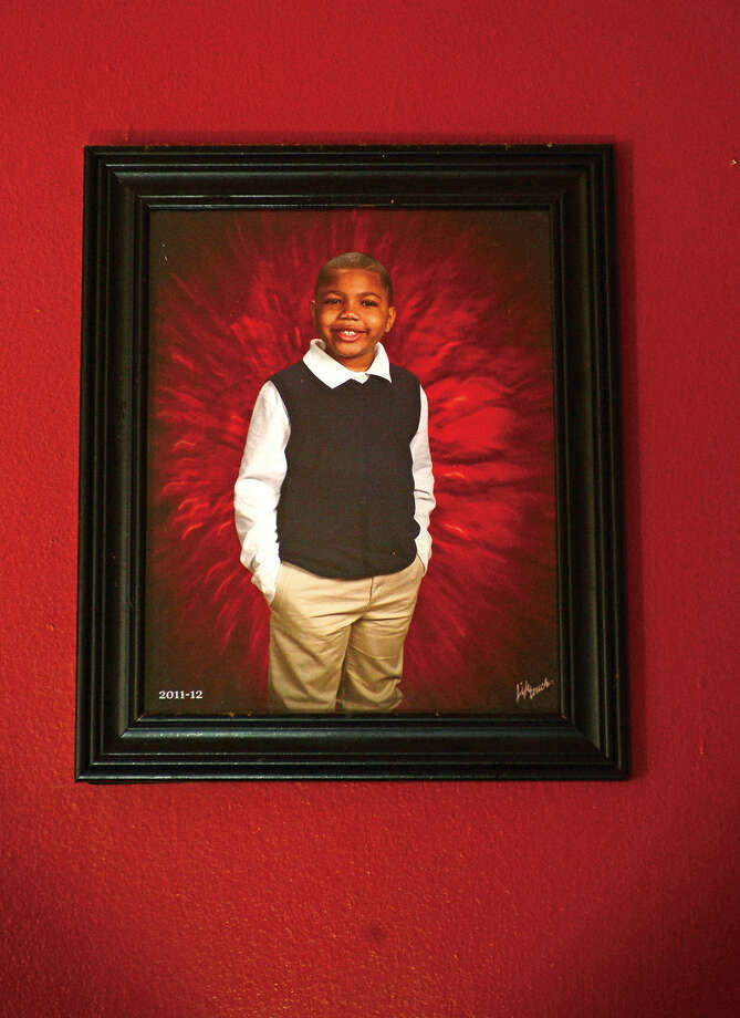 Thursday April 28, 2016, Veronica Norris' son, Marcus Lee, developed lead poisoning after they lived in a home with lead paint on Lowe Street in Norwalk, Conn. 8 years ago. Lee has struggled with a learning and behavioral disabilties due to the harmful lead levels in his blood.