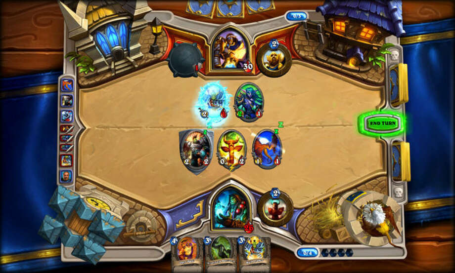 "AP Photo/Blizzard EntertainmentThis video game image released by Blizzard Entertainment shows a scene from ""Hearthstone: Heroes of Warcraft."""