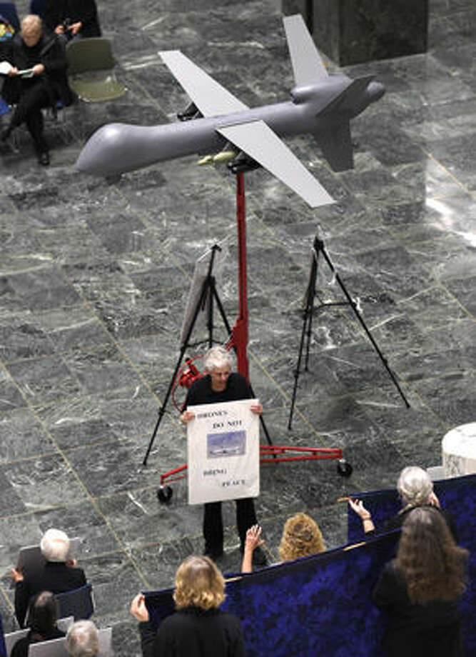 Failed-Weaponized Drones: A proposal creating a new class C felony for those who attach weapons to drones has failed for the second year in a row. While it passed in the House of Representatives, it didn't come up for a Senate vote.(Skip Dickstein/Times Union)