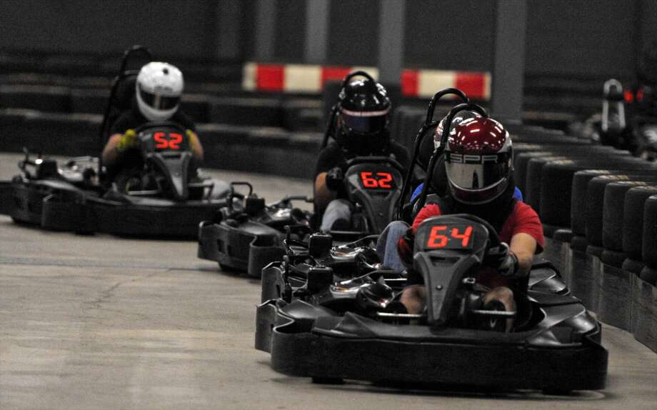 Buckle up for some all-you-can-drive go-karting at On Track Karting in Brookfield on Friday. Photo: H John Voorhees III