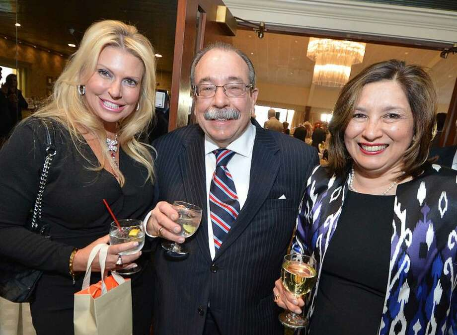 Hour Photo/Alex von Kleydorff Denise Rizzuto, Lucien and Rosa Sclafani during the Cocktail Reception at The Stamford Chapter of UNICO, Giuseppe Garibaldi Award Dinner Dance.