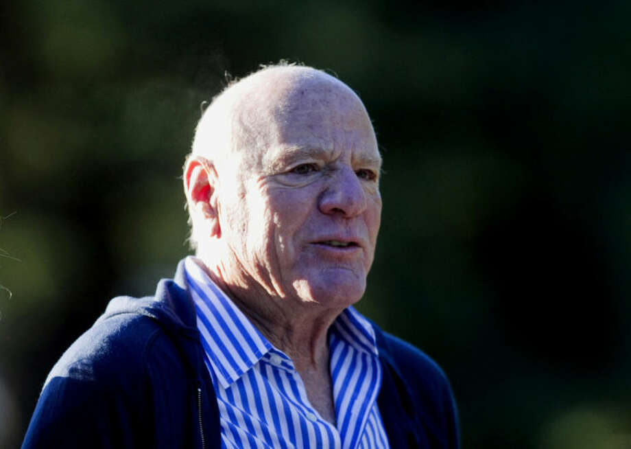 FILE - This July 7, 2010 file photo shows Barry Diller at the annual Allen & Co. Media summit in Sun Valley, Idaho. Thirty years after failing to persuade the Supreme Court of the threat posed by home video recordings, big media companies are back at the high court to try to rein in another technological innovation that they say threatens their financial well-being. The battle has moved out of viewers' living rooms, where Americans once marveled at their ability to pop a cassette into a recorder and capture their favorite programs or the game they wouldn't be home to see. Now the entertainment conglomerates that own U.S. television networks are waging a legal fight, with Supreme Court argument on Tuesday, against a start-up business that uses Internet-based technology to give subscribers the ability to watch programs anywhere they can take portable devices. The source of the companies' worry is Aereo Inc., which takes free television signals from the airwaves and sends them over the Internet to paying subscribers in 11 cities. Aereo, backed by media billionaire Barry Diller, has plans to more than double that total. (AP Photo/Nati Harnik, File)