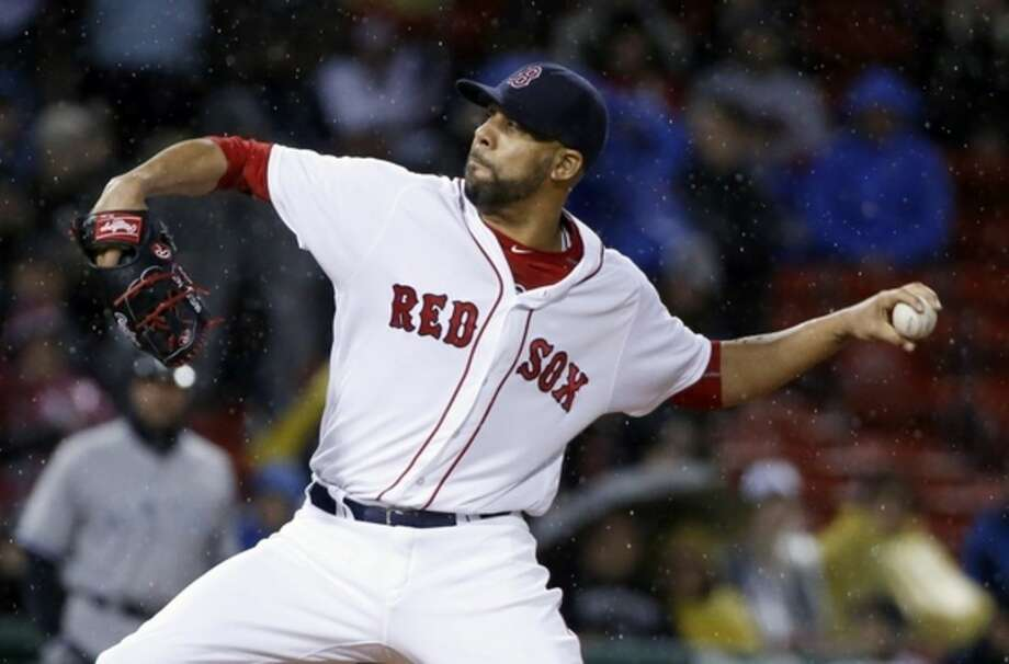 Boston Red Sox's David Price pitches during the first inning of a baseball game against the New York Yankees in Boston, Sunday, May 1, 2016. (AP Photo/Michael Dwyer)