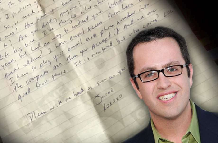 An Indianapolis woman says she received a prison letter from her former lover Jared Fogle. (Photo: AMI Editors)